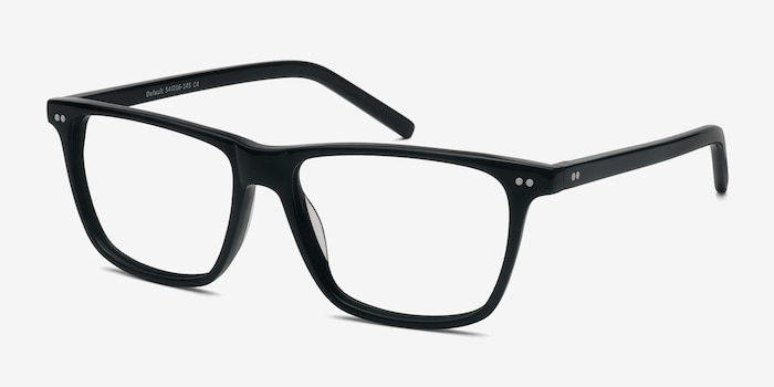 Default Black Acetate Eyeglass Frames from EyeBuyDirect, Angle View