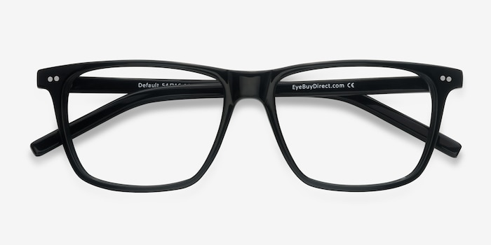 Default Black Acetate Eyeglass Frames from EyeBuyDirect, Closed View