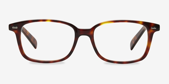 Sway Tortoise Acetate Eyeglass Frames from EyeBuyDirect, Front View