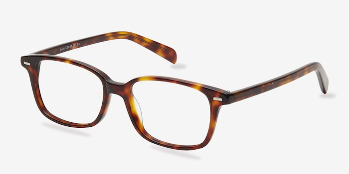 Sway Tortoise Acetate Eyeglass Frames from EyeBuyDirect, Angle View