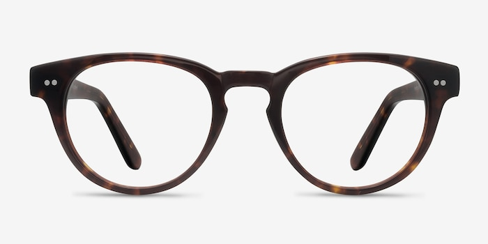 Oversea  Tortoise  Acetate Eyeglass Frames from EyeBuyDirect, Front View