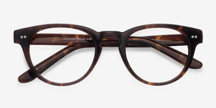 Oversea  Tortoise  Acetate Eyeglass Frames from EyeBuyDirect, Closed View