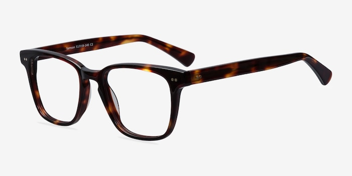 Samson Tortoise Acetate Eyeglass Frames from EyeBuyDirect, Angle View