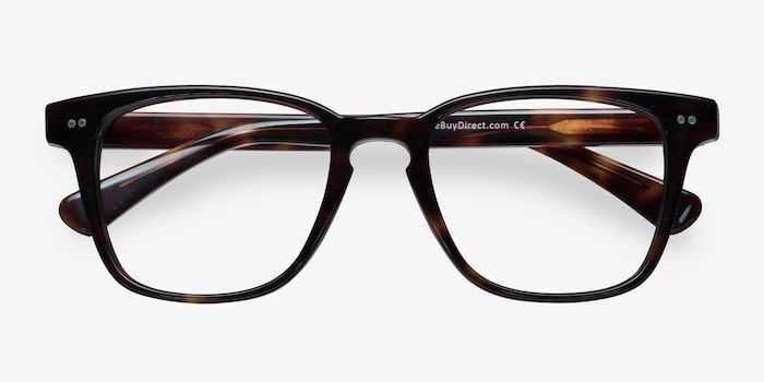 Samson Tortoise Acetate Eyeglass Frames from EyeBuyDirect, Closed View
