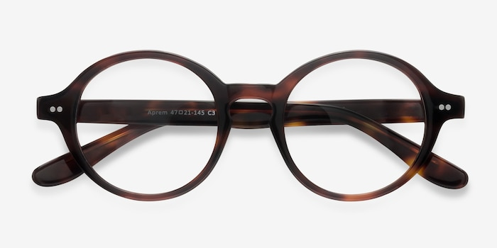 Aprem Tortoise Acetate Eyeglass Frames from EyeBuyDirect, Closed View