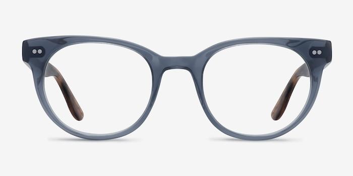 Daybreak Gray Acetate Eyeglass Frames from EyeBuyDirect, Front View