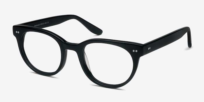 Daybreak Black Acetate Eyeglass Frames from EyeBuyDirect, Angle View