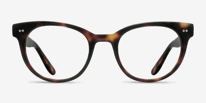 Daybreak Tortoise Acetate Eyeglass Frames from EyeBuyDirect, Front View