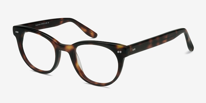 Daybreak Tortoise Acetate Eyeglass Frames from EyeBuyDirect, Angle View