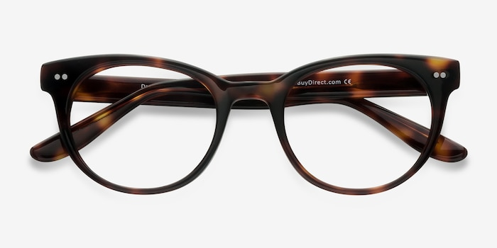 Daybreak Tortoise Acetate Eyeglass Frames from EyeBuyDirect, Closed View
