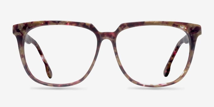 0cbff6451f Capucine Red Floral Acetate Eyeglass Frames from EyeBuyDirect