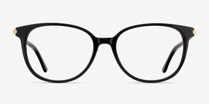 Jasmine Black Acetate Eyeglass Frames from EyeBuyDirect, Front View