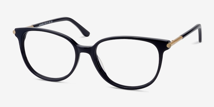 Jasmine Navy Acetate Eyeglass Frames from EyeBuyDirect, Angle View