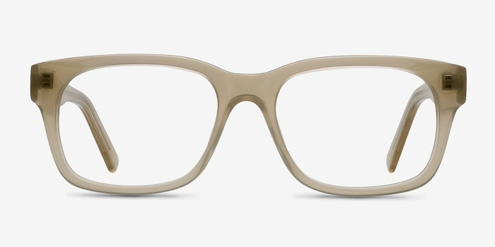 Lynch Light Beige Acetate Eyeglass Frames from EyeBuyDirect, Front View