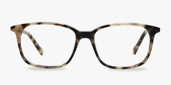 The Bay Tortoise Acetate Eyeglass Frames from EyeBuyDirect, Front View