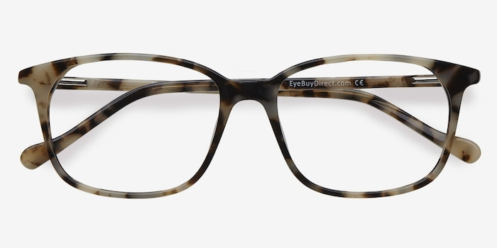 The Bay Tortoise Acetate Eyeglass Frames from EyeBuyDirect, Closed View