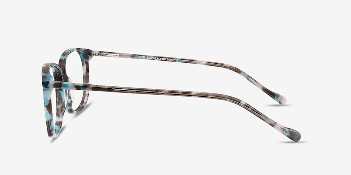 The Bay Blue Floral Acetate Eyeglass Frames from EyeBuyDirect, Side View