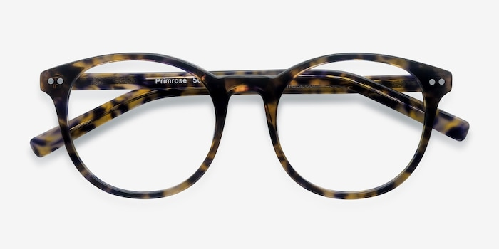 Primrose Floral Acetate Eyeglass Frames from EyeBuyDirect, Closed View