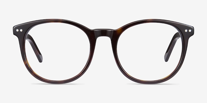 Primrose Tortoise Acetate Eyeglass Frames from EyeBuyDirect, Front View