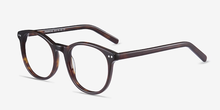 Primrose Tortoise Acetate Eyeglass Frames from EyeBuyDirect, Angle View