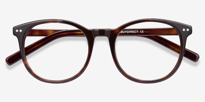 Primrose Tortoise Acetate Eyeglass Frames from EyeBuyDirect, Closed View