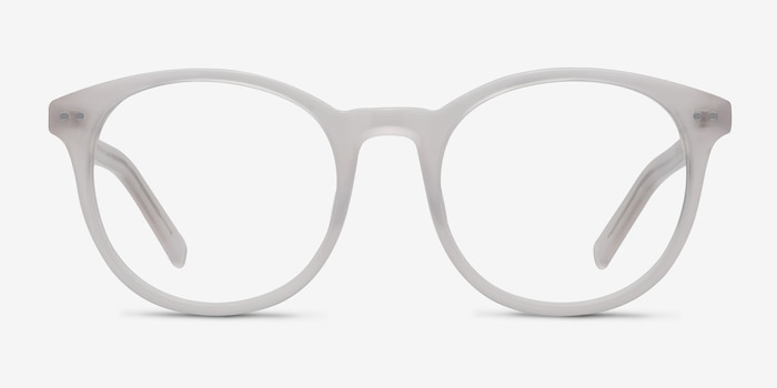 Primrose White Acetate Eyeglass Frames from EyeBuyDirect, Front View