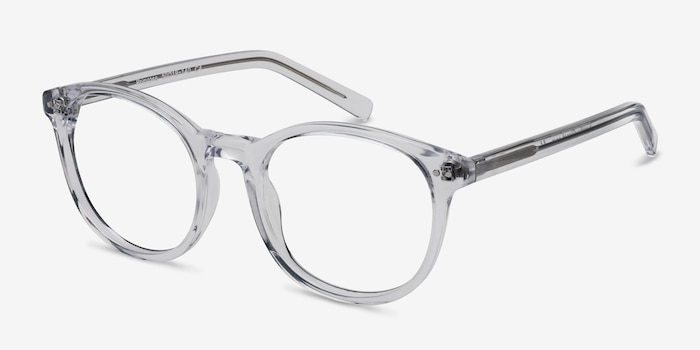 Primrose Clear Acetate Eyeglass Frames from EyeBuyDirect, Angle View