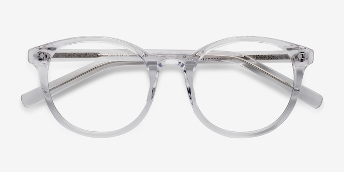 Primrose Clear Acetate Eyeglass Frames from EyeBuyDirect, Closed View