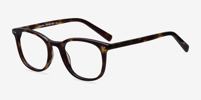 Demain Dark Tortoise Eyeglass Frames from EyeBuyDirect, Angle View