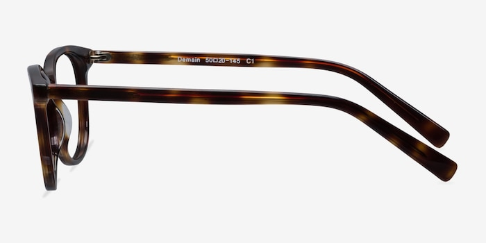Demain Dark Tortoise Eyeglass Frames from EyeBuyDirect, Side View