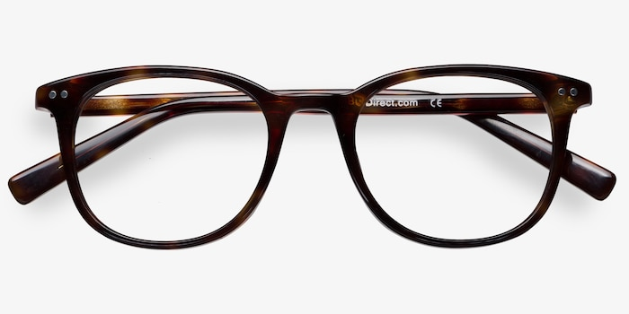 Demain Dark Tortoise Acetate Eyeglass Frames from EyeBuyDirect, Closed View