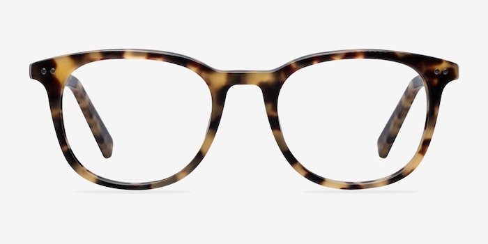 Demain Tortoise  Acetate Eyeglass Frames from EyeBuyDirect, Front View