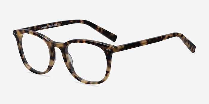 Demain Tortoise  Acetate Eyeglass Frames from EyeBuyDirect, Angle View