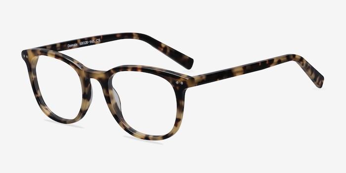 Demain Tortoise  Acétate Montures de Lunettes d'EyeBuyDirect, Vue d'Angle