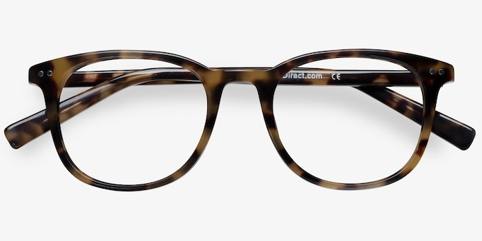 Demain Tortoise  Acetate Eyeglass Frames from EyeBuyDirect, Closed View