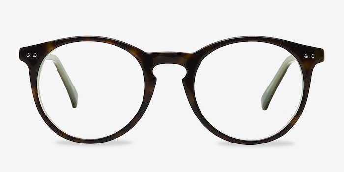 Neptune Tortoise Acetate Eyeglass Frames from EyeBuyDirect, Front View
