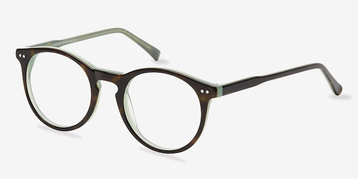 Neptune Tortoise Acetate Eyeglass Frames from EyeBuyDirect, Angle View