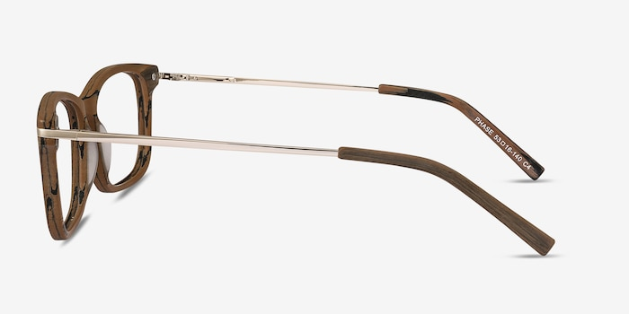 Phase Brown Acetate Eyeglass Frames from EyeBuyDirect, Side View