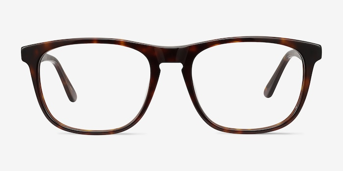 Damien Tortoise Acetate Eyeglass Frames from EyeBuyDirect, Front View