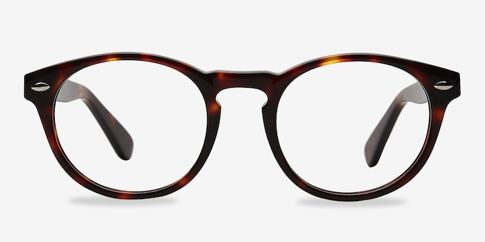 The Loop Tortoise Acetate Eyeglass Frames from EyeBuyDirect, Front View