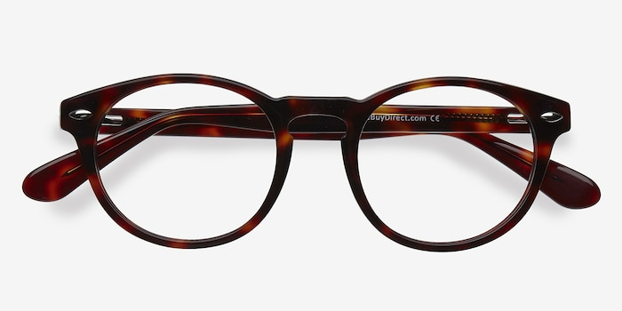 The Loop Tortoise Acetate Eyeglass Frames from EyeBuyDirect, Closed View