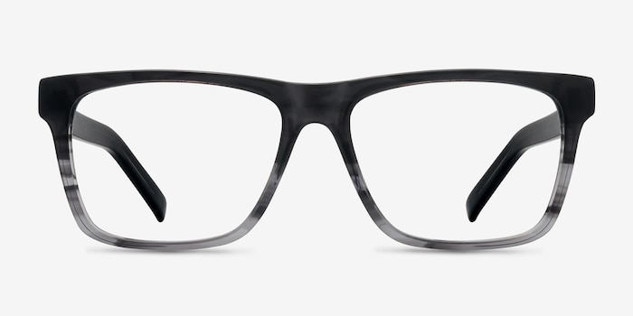 Pioneer Gray Acetate Eyeglass Frames from EyeBuyDirect, Front View