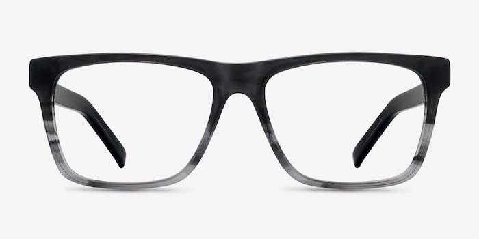Pioneer Gris Acétate Montures de Lunettes d'EyeBuyDirect, Vue de Face