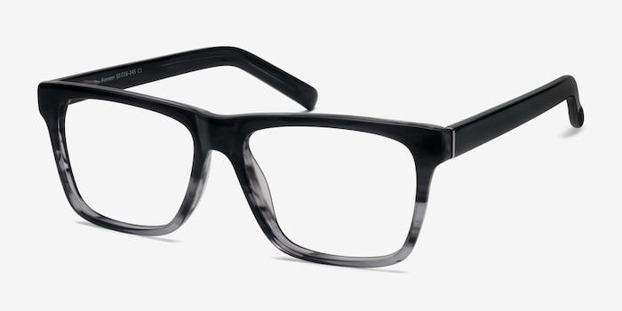 Pioneer Gris Acétate Montures de Lunettes d'EyeBuyDirect, Vue d'Angle
