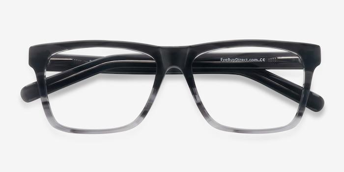 Pioneer Gris Acétate Montures de Lunettes d'EyeBuyDirect, Vue Rapprochée