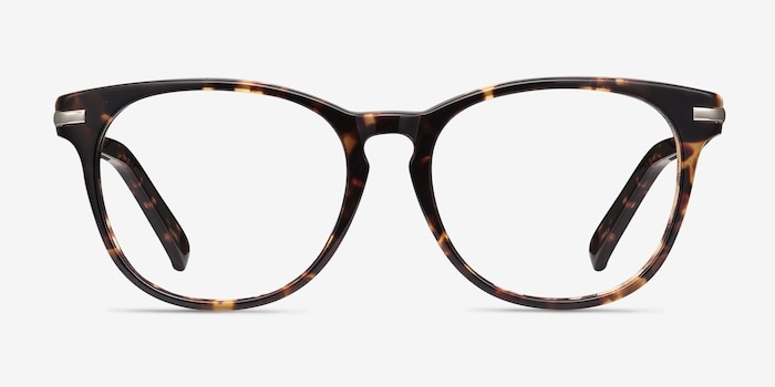 Decadence Tortoise Acetate Eyeglass Frames from EyeBuyDirect, Front View