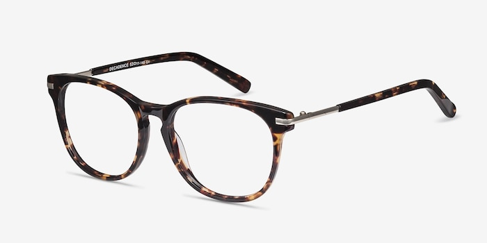 Decadence Tortoise Acetate Eyeglass Frames from EyeBuyDirect, Angle View