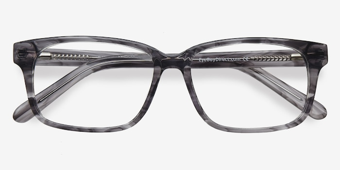 Edit Clear Gray Acetate Eyeglass Frames from EyeBuyDirect, Closed View