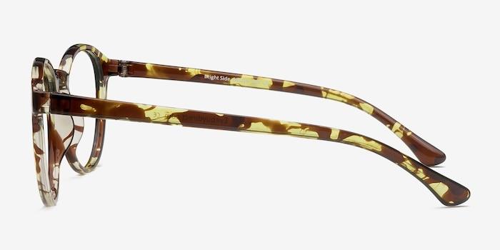 Bright Side Tortoise Plastic Eyeglass Frames from EyeBuyDirect, Side View