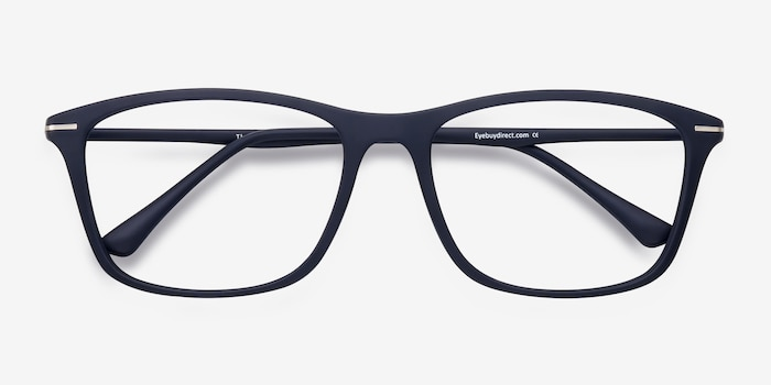 Thursday Navy Plastic Eyeglass Frames from EyeBuyDirect, Closed View